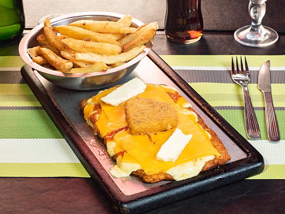 Milanesa cuatro quesos