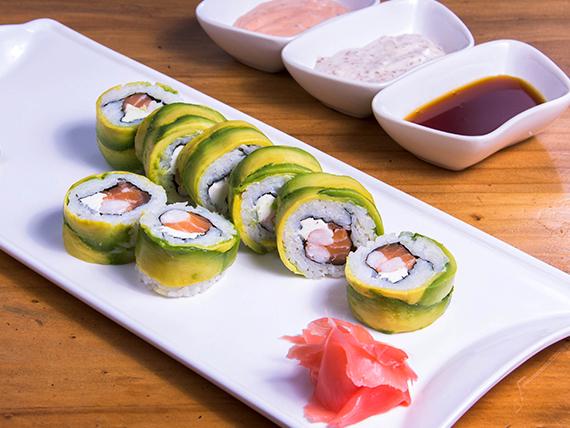Avocado ebi roll (8 bocados)
