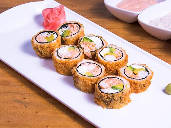Tempura sake roll (8 bocados)