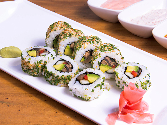 California vegetariano roll (8 bocados)