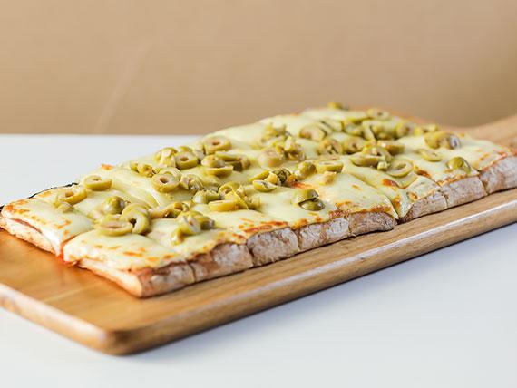 Pizza muzzarella con 1 gusto 2x1