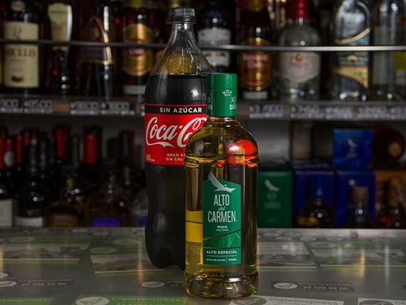 Promo 1 - Pisco Alto del Carmen 750 ml + bebida 1.5 L