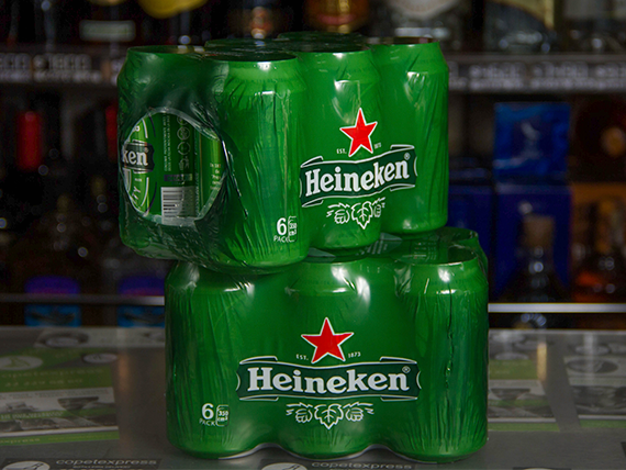 Six pack -  Cerveza Heineken lata 330 ml