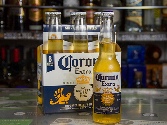 Six pack - Cerveza Corona botella 330 ml