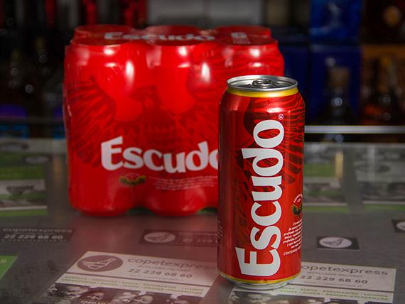 Six pack - Cerveza Escudo lata 470 ml