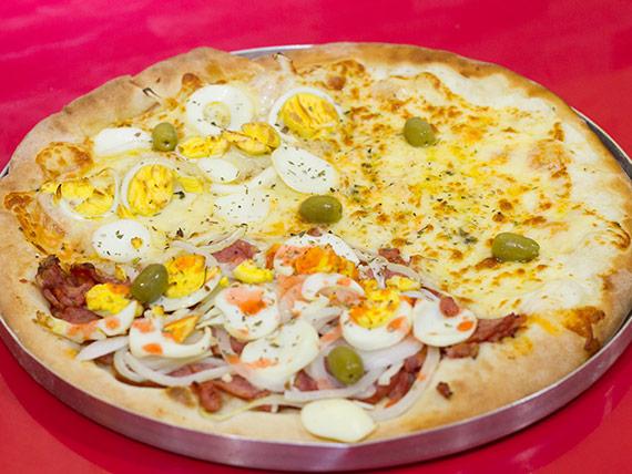 Pizza media 2 sabores