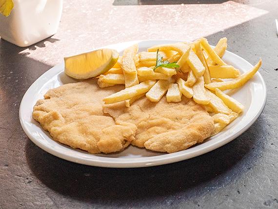 Promo 4 - Suprema mediana de pollo al plato + papas fritas