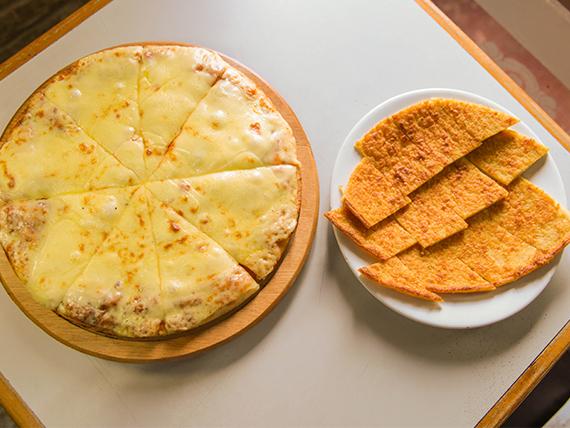 Promo - Pizzeta grande extra muzzarella +fainá + bebida