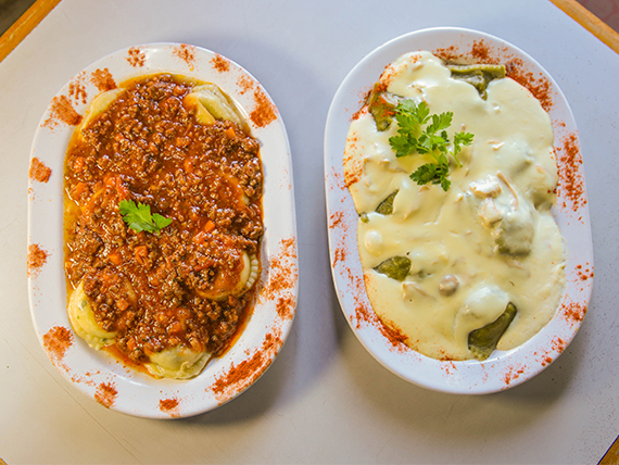 Promo - Dos pastas con salsa a elección + bebida