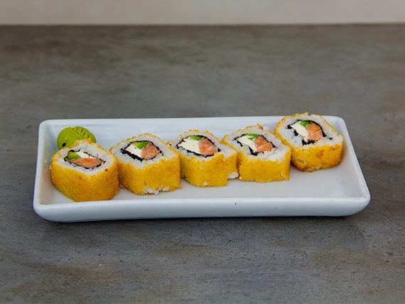 Hot salmón roll (5 unidades)