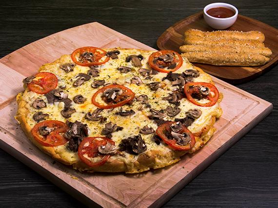 Pizza con churrasco