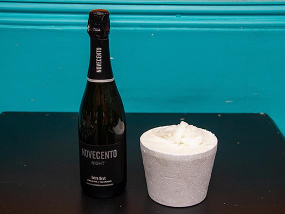 Promo - Champagne Novecento 750 ml + 1/2 kg helado de limón