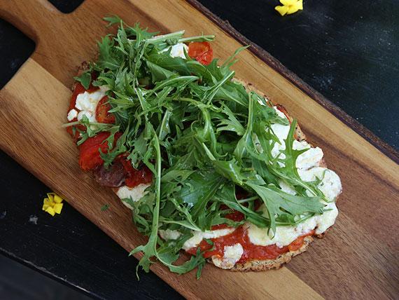 Pizza de quinoa sin harina