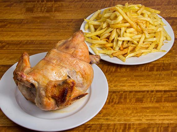 Promo 1 - Pollo asado + papas fritas familiares