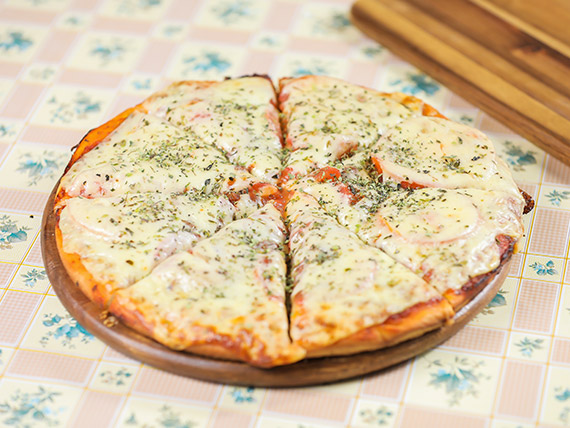 Pizzeta clásica solo muzzarella