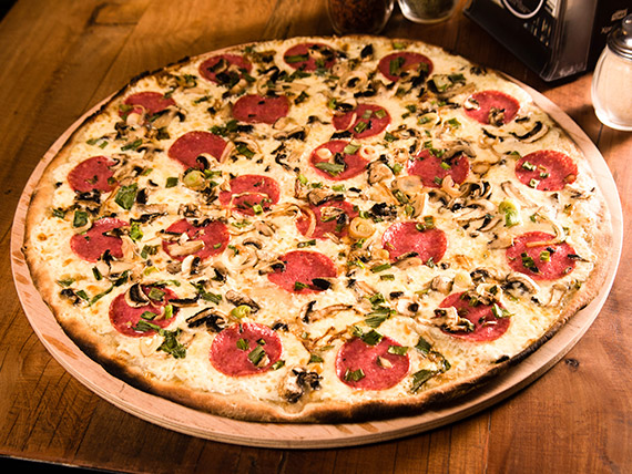 Pizza peppe cream