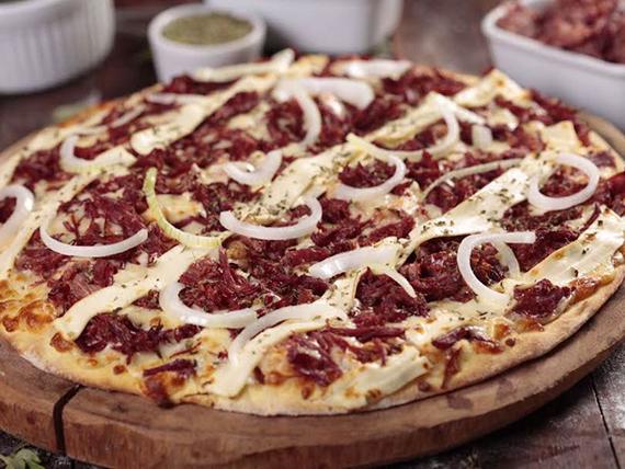 Pizza de carne seca com Philadélphia ® grande