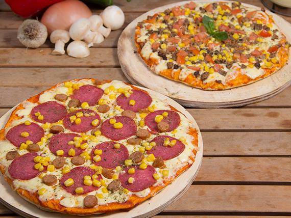 Promo famliar - 2 pizzas familiares 3 ingredientes a elección