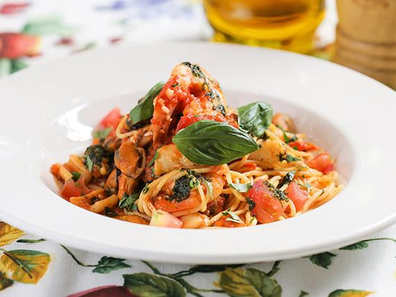 Spaghetti al fruti di mare