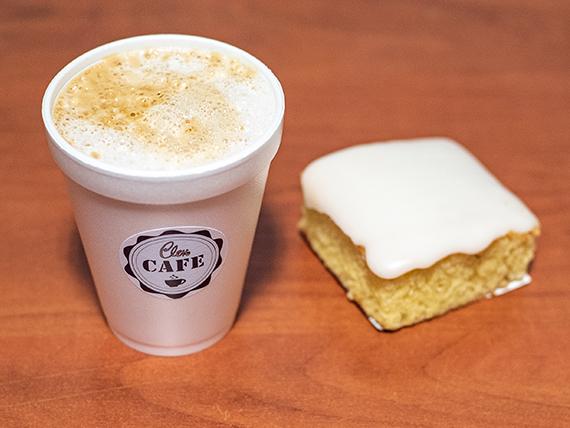 Promo - Cafe grande a elección + cuadrado dulce a elección