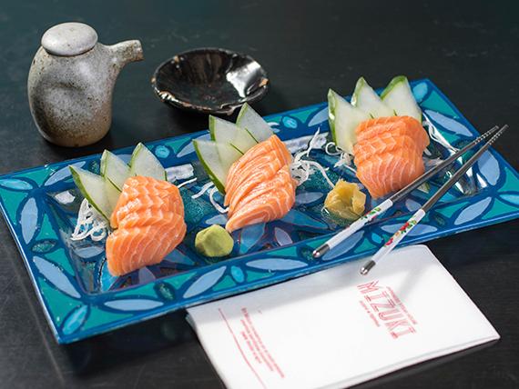 Sashimi salmón (5 unidades)