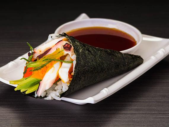 Temaki maguro spicy