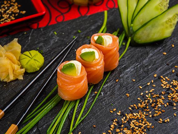 Geisha de salmón (3 unidades)