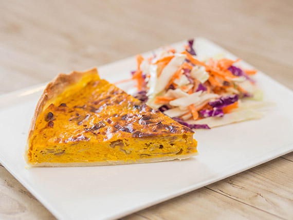 Menú - Tarta + ensalada clásica