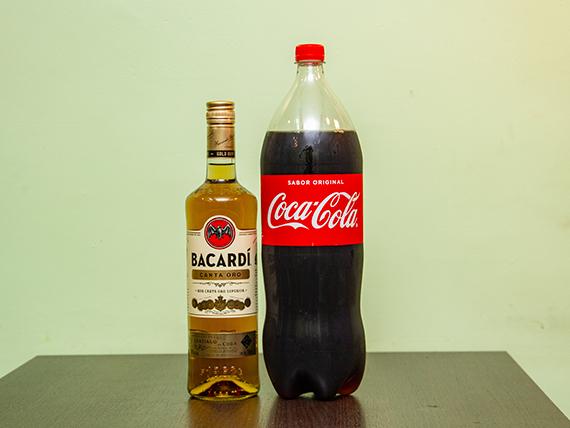 Promo 16 - Ron Bacardi gold 750 ml + gaseosa Coca Cola 2.25 L