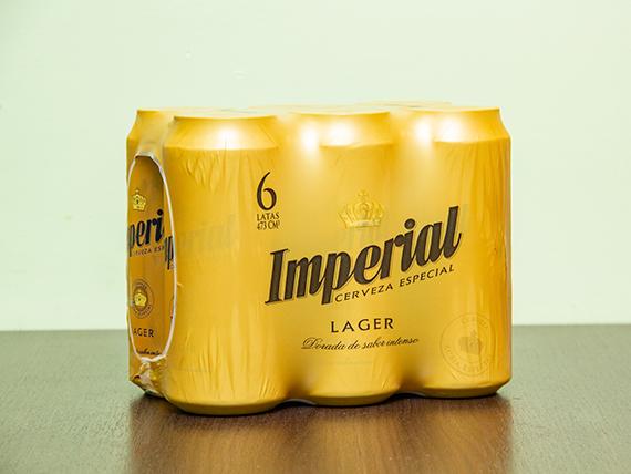 Promo 30 - 6 Cervezas Imperial en lata 473 ml