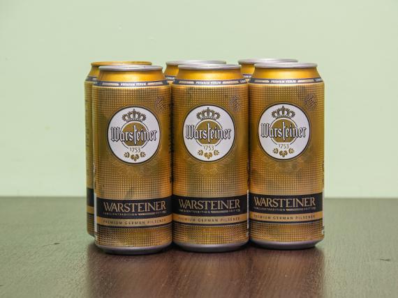 Promo - 6 cervezas Warsteiner 473 ml en lata