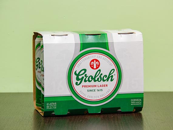 Promo - 6 cervezas Grolsch 473 ml en lata
