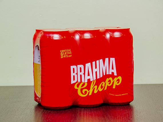 Promo 1 - 6 cervezas Brahma 473 ml en lata