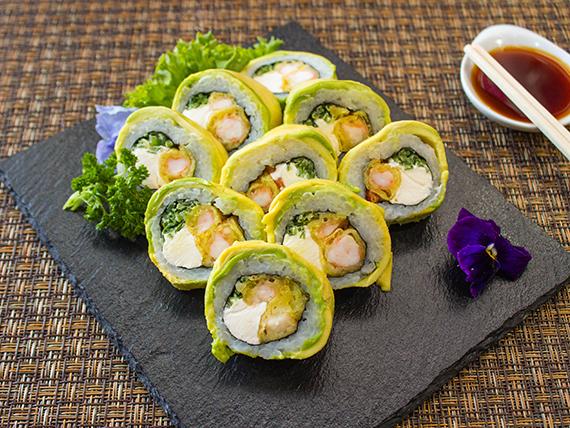 019 - Aocado ebi tempura roll (9 piezas)
