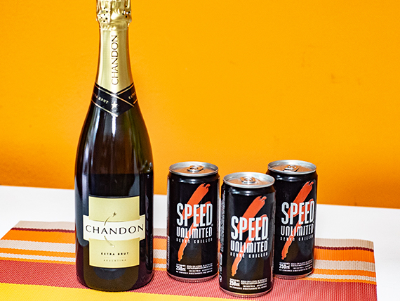Combo 39 - Champagne Chandon 750 ml + 3 energizantes Speed 250 ml
