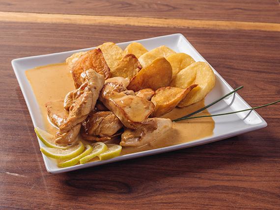 Pechuga de pollo a la crema