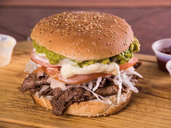 Sándwich de churrasco completo