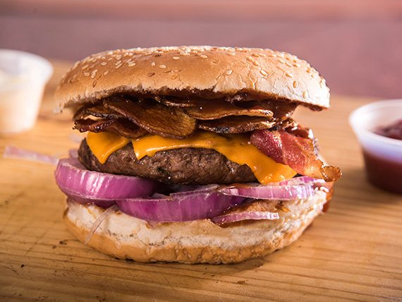 Hamburguesa especial Pipe bacon
