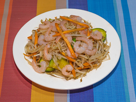 35 - Chop suey con camarones
