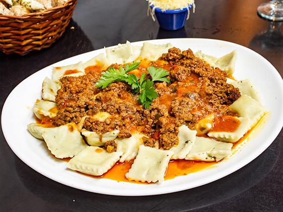 Pasta con salsa bolognesa