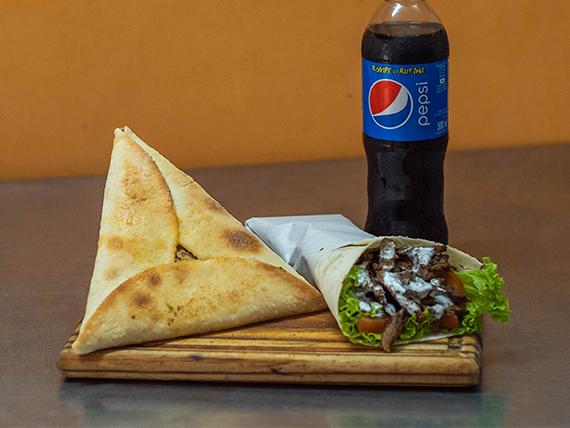 Promo Ararat  - Shawarma + fatay de carne o verduras + gaseosa de linea Pepsi 50 ml