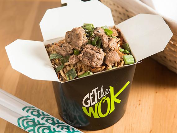 Promoción - Beff wok + bebida 250 ml