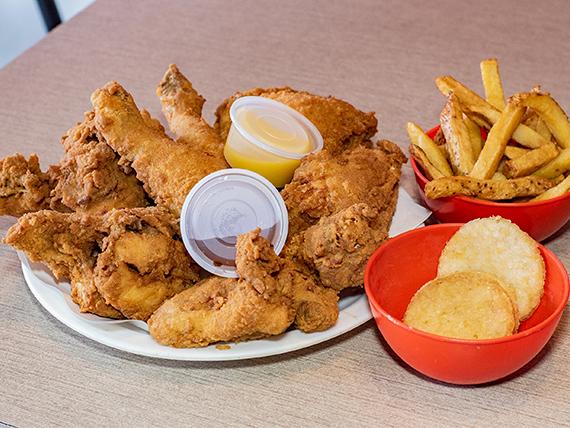 Combo familia - 8 piezas de pollo + 3 guarniciones + 3 bebidas en lata