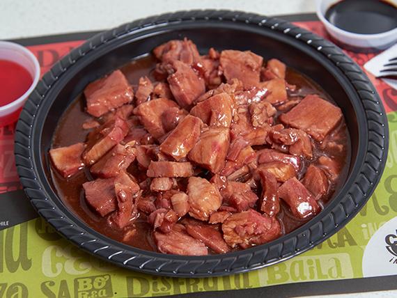 Fondo cerdo barbecue