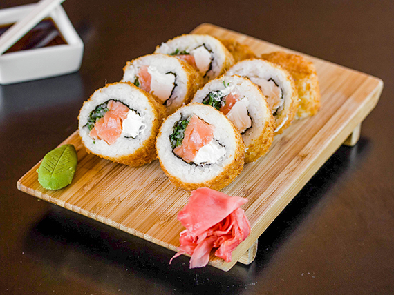 71 - Sake furai roll (8 unidades)