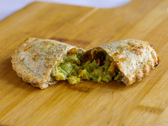 Empanada vegetariana (masa integral)