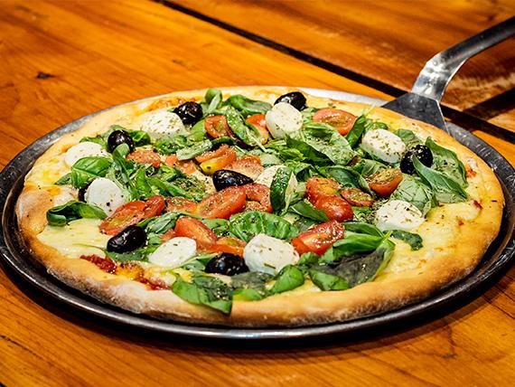 Pizza clásica capresse grande