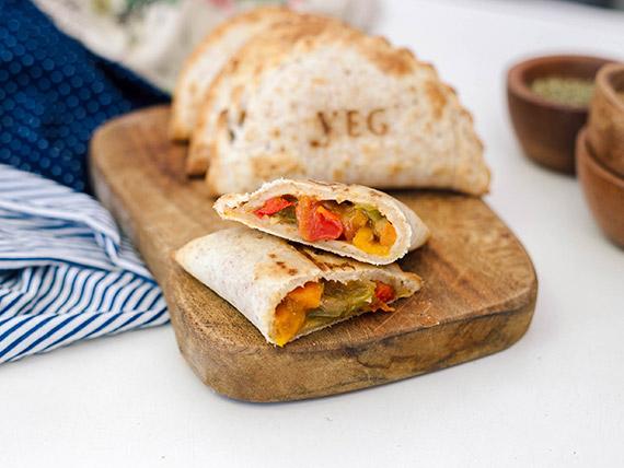 Empanada de salteado de vegetales (masa integral)