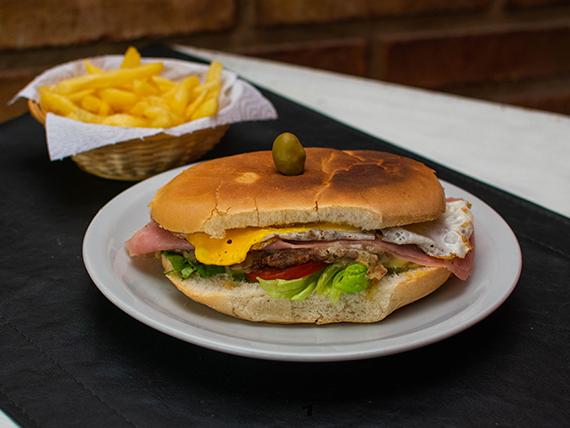 Sándwich de hamburguesa simple