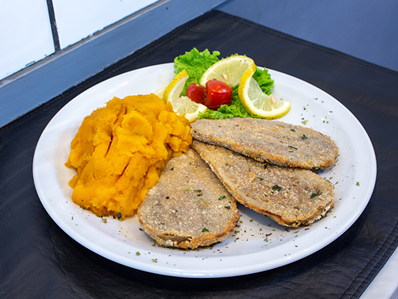 Promo almuerzo - 3 Milenisitas de berenjena con guarnición